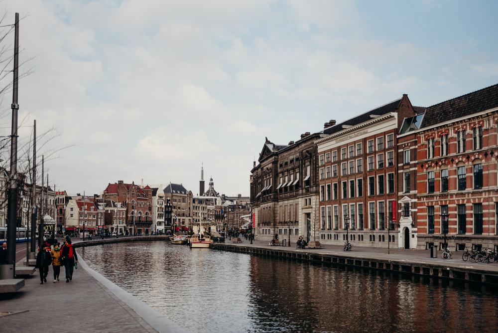Amsterdam honeymoon photos by the river