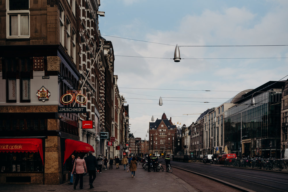 streets of Amsterdam in the evening