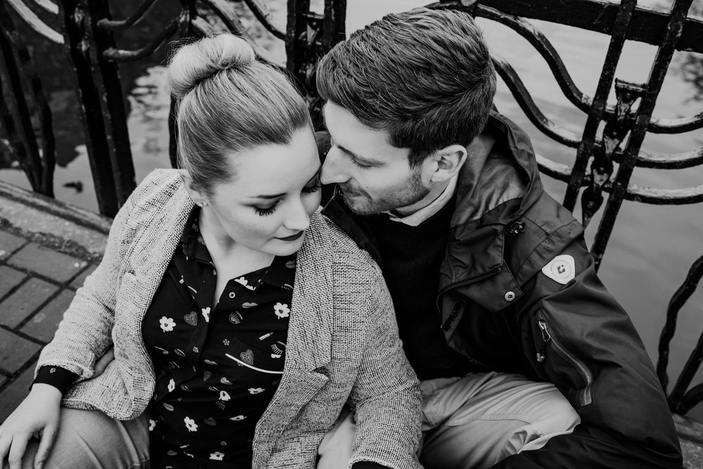 newly married couple on their honeymoon in Amsterdam