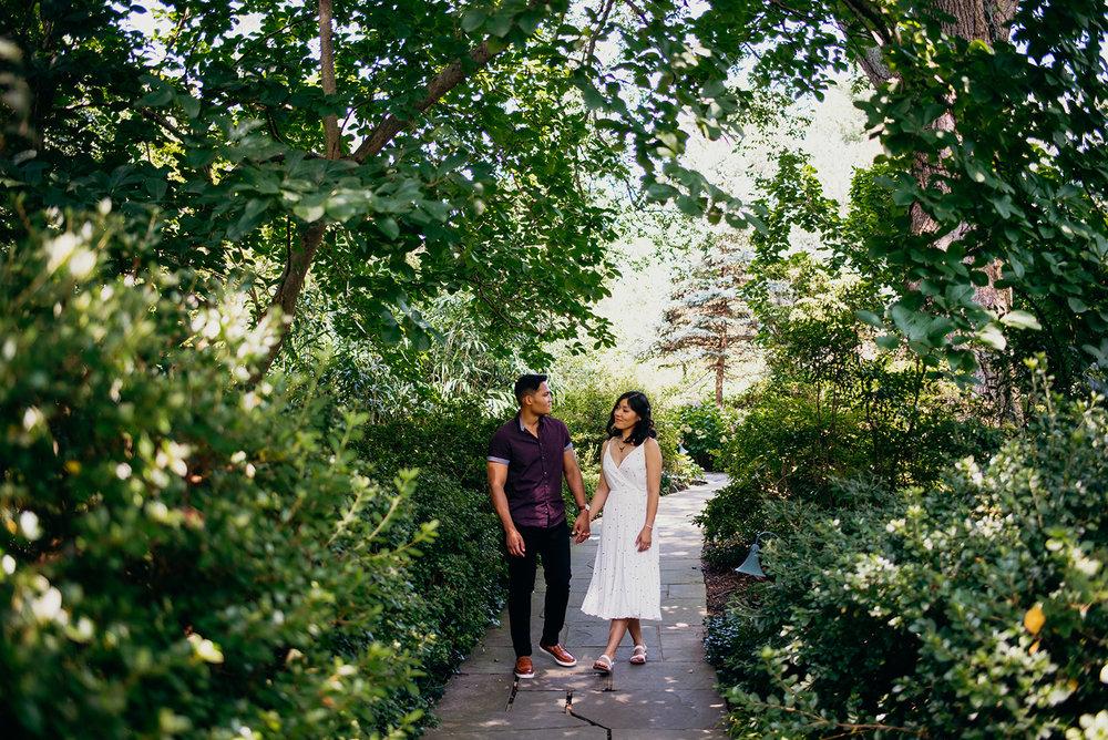 Washington DC botanical garden engagement session hill wood estates and gardens