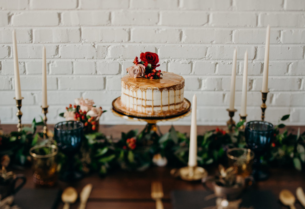 Can you believe this cake came from Whole Foods??It's amazing what some florals can do when it comes to giving a cake a little face lift.